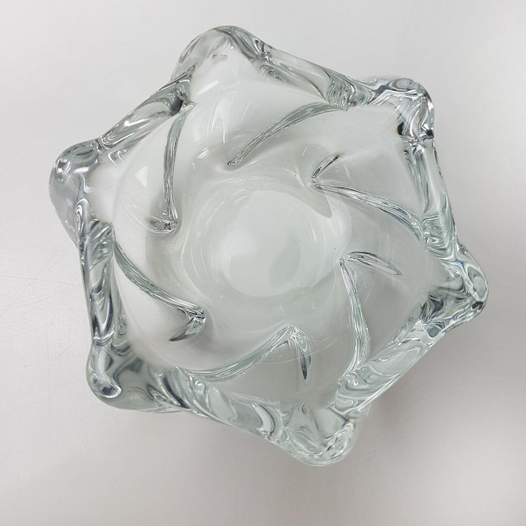 Late 20th Century Crystal Glass Votive Candleholder by Daum Nancy, France, 1960s For Sale