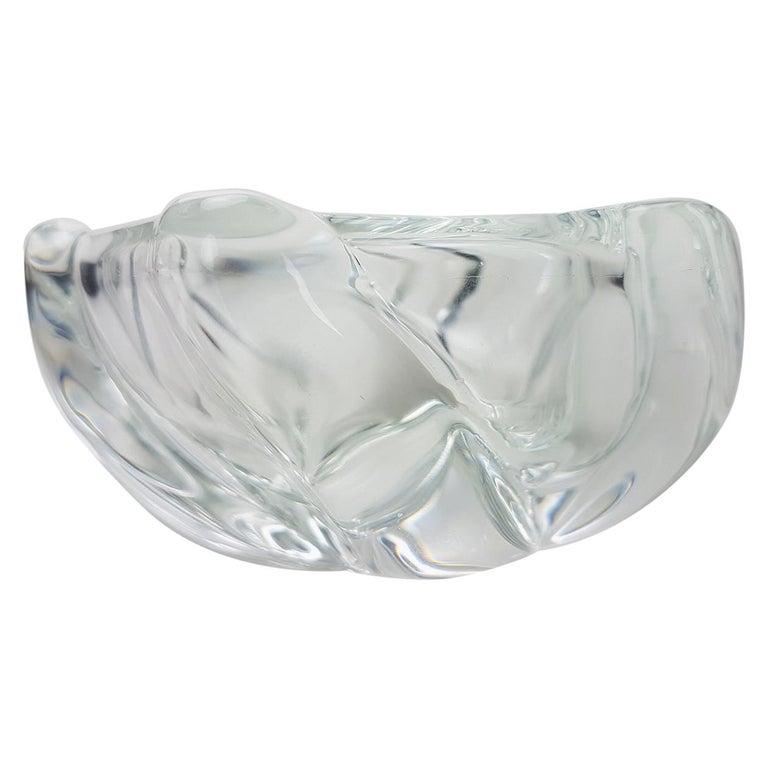 Crystal Glass Votive Candleholder by Daum Nancy, France, 1960s For Sale