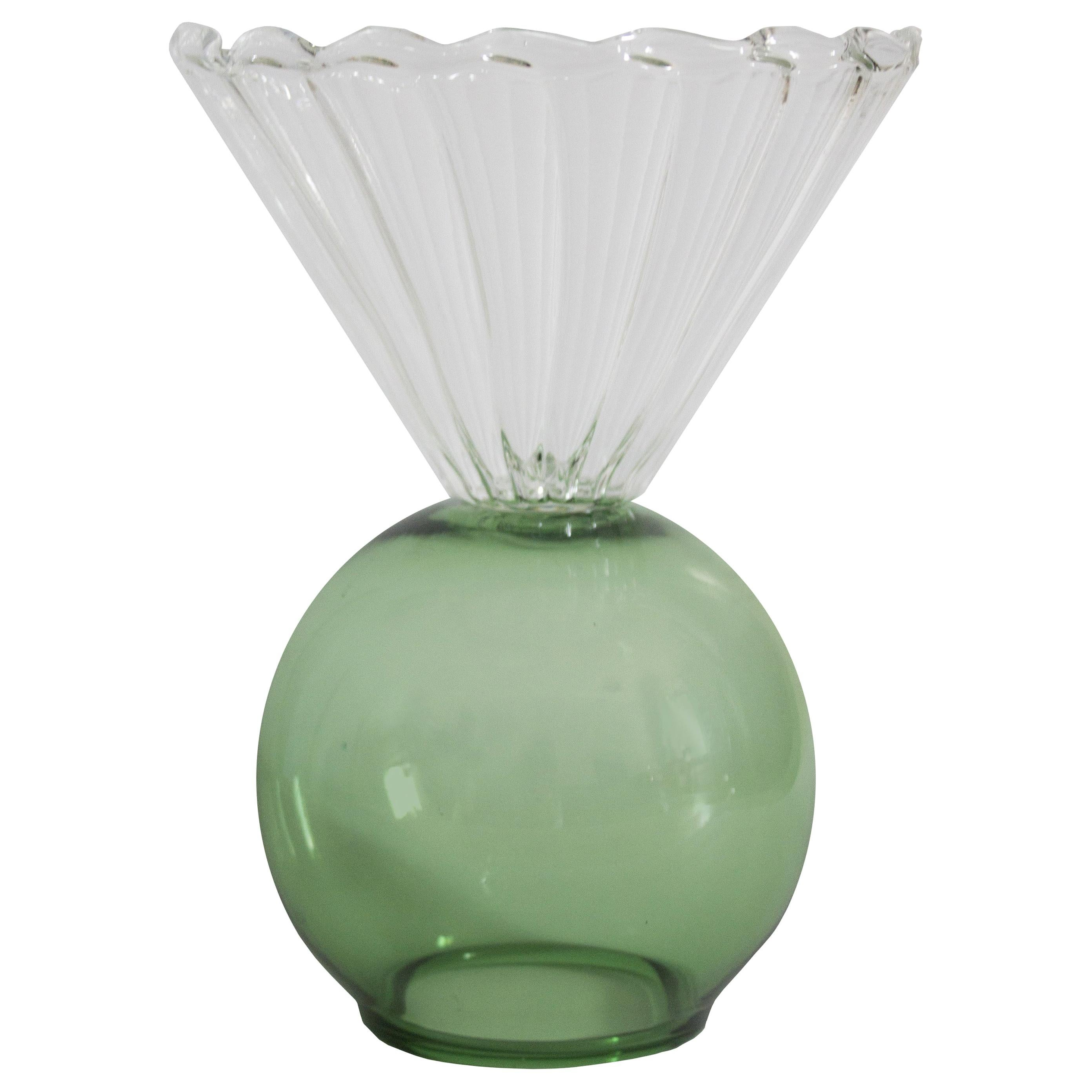 Crystal Green Cup Vase by Natalia Criado