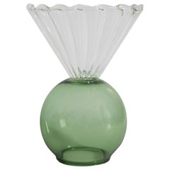 Crystal Green Cup Vase by Natalia Criado