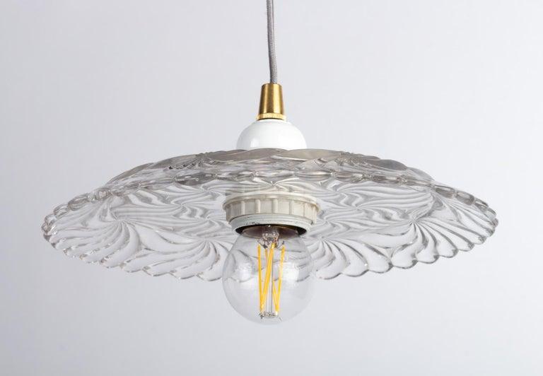 Art Nouveau Crystal Hanging Lamp For Sale