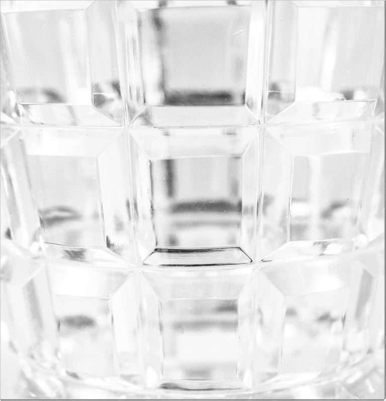 Sterling Silver Crystal Ice Bucket For Sale