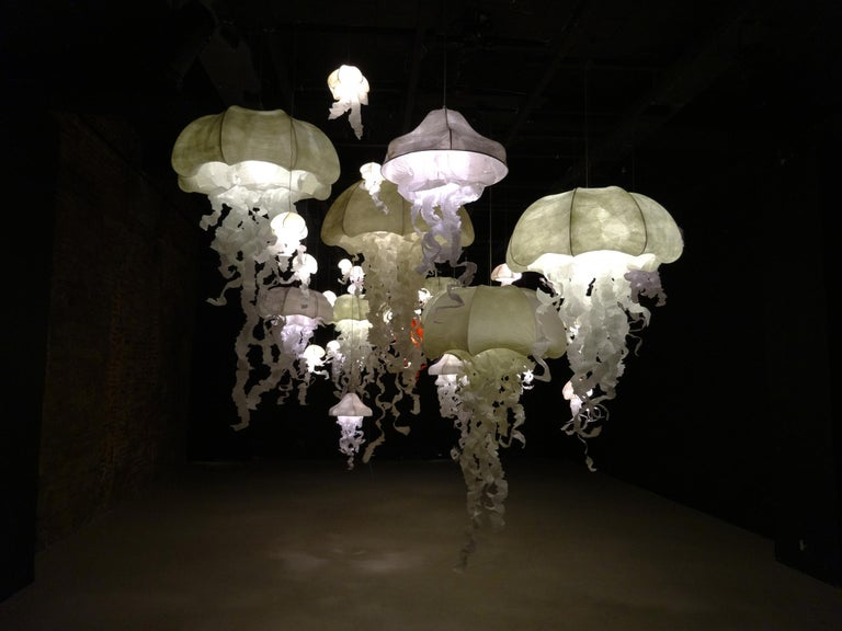 Crystal Ombrelle Light Chandellier by Geraldine Gonzalez For Sale 10