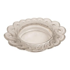 "Crystal Oval ""Auriac"" Dish by Lalique"