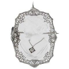 Crystal Pendant with a Diamond