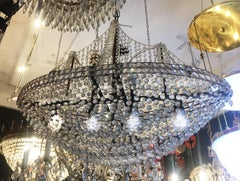 Crystal Pirate Ship Chandelier, Italy, 1950