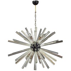 Crystal Prism Sputnik Chandeliers, 50 Prisms