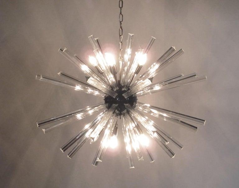 Crystal Prism Sputnik Chandeliers, 50 Prisms, Italy, Murano 5