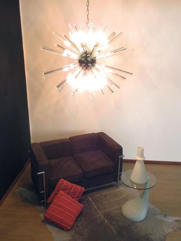 Crystal Prism Sputnik Chandeliers, 50 Prisms, Italy, Murano 6