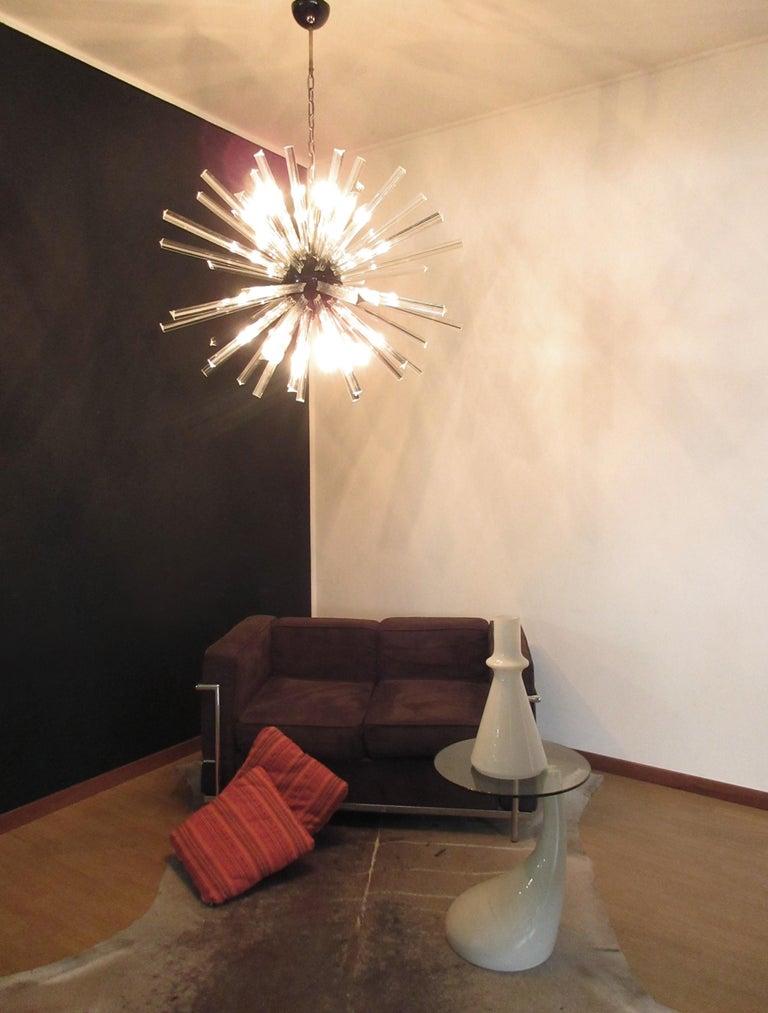 Crystal Prism Sputnik Chandeliers, 50 Prisms, Italy, Murano 7