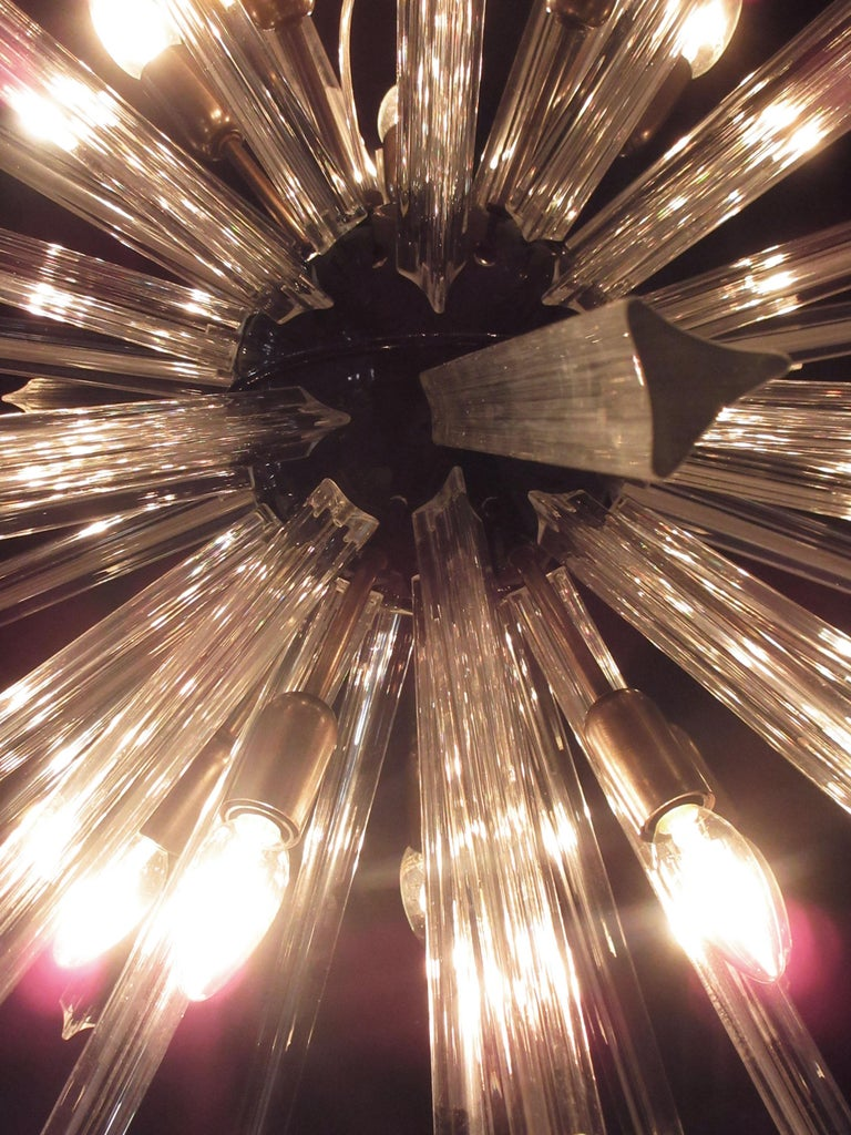 Crystal Prism Sputnik Chandeliers, 50 Prisms, Italy, Murano 1