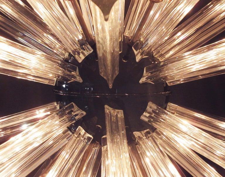 Crystal Prism Sputnik Chandeliers, 50 Prisms, Italy, Murano 2