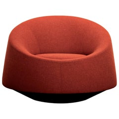 Crystal Red Round Armchair by Pearson Lloyd