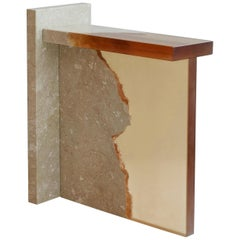 Crystal Resin and Marble, Fragment Side Table, Jang Hea Kyoung