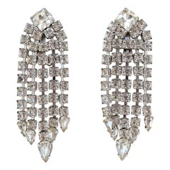 Crystal Rhinestone Dangle Earrings, circa 1950s