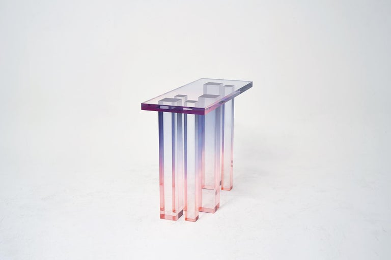 Other Crystal Series Console Table 03 in Acrylic For Sale