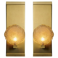 Crystal Shell Blown Glass Luxe Sconces by Shakuff