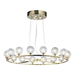 Crystal Spheres Chandelier