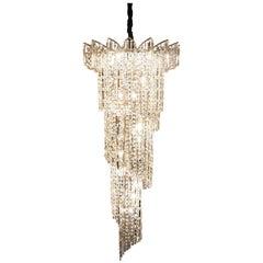 Crystal Spiral Chandelier with Swarovski Crystals