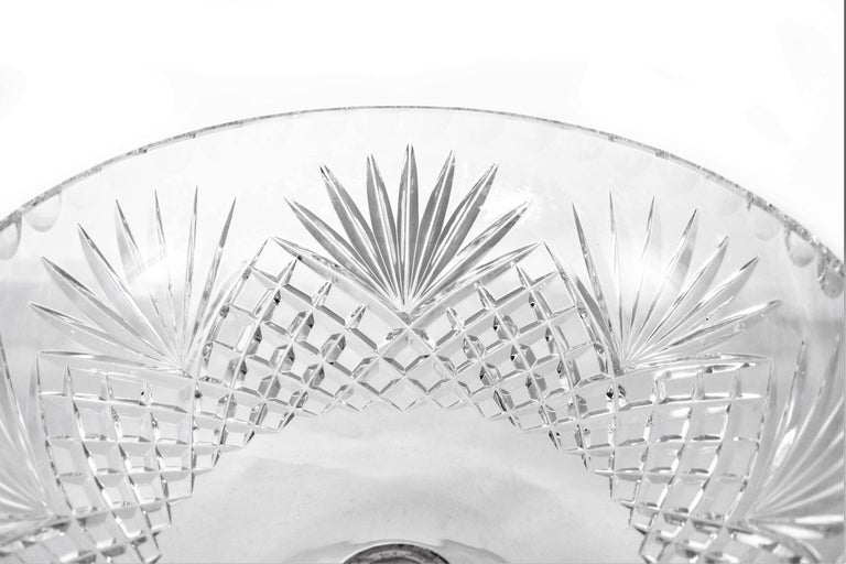 Crystal Sterling Bowl In Excellent Condition For Sale In Brooklyn, NY