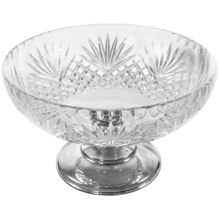 Crystal Sterling Bowl For Sale