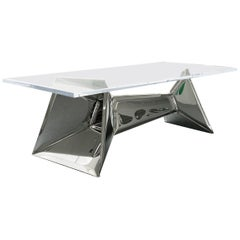 Crystal Table in Stainless Steel, Zieta