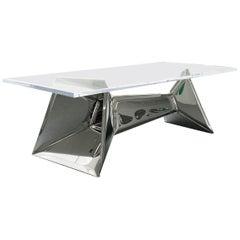 Crystal Table in Stainless Steel, Zieta