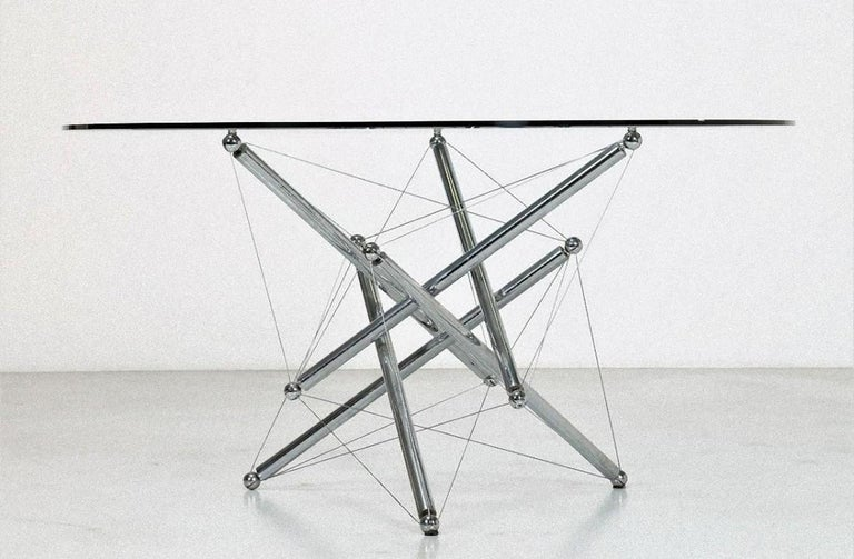 Late 20th Century Crystal Table, Waddel for Cassina, 1973 For Sale