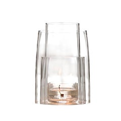 Crystal Tea Light Hurricane Lantern by Deborah Ehrlich