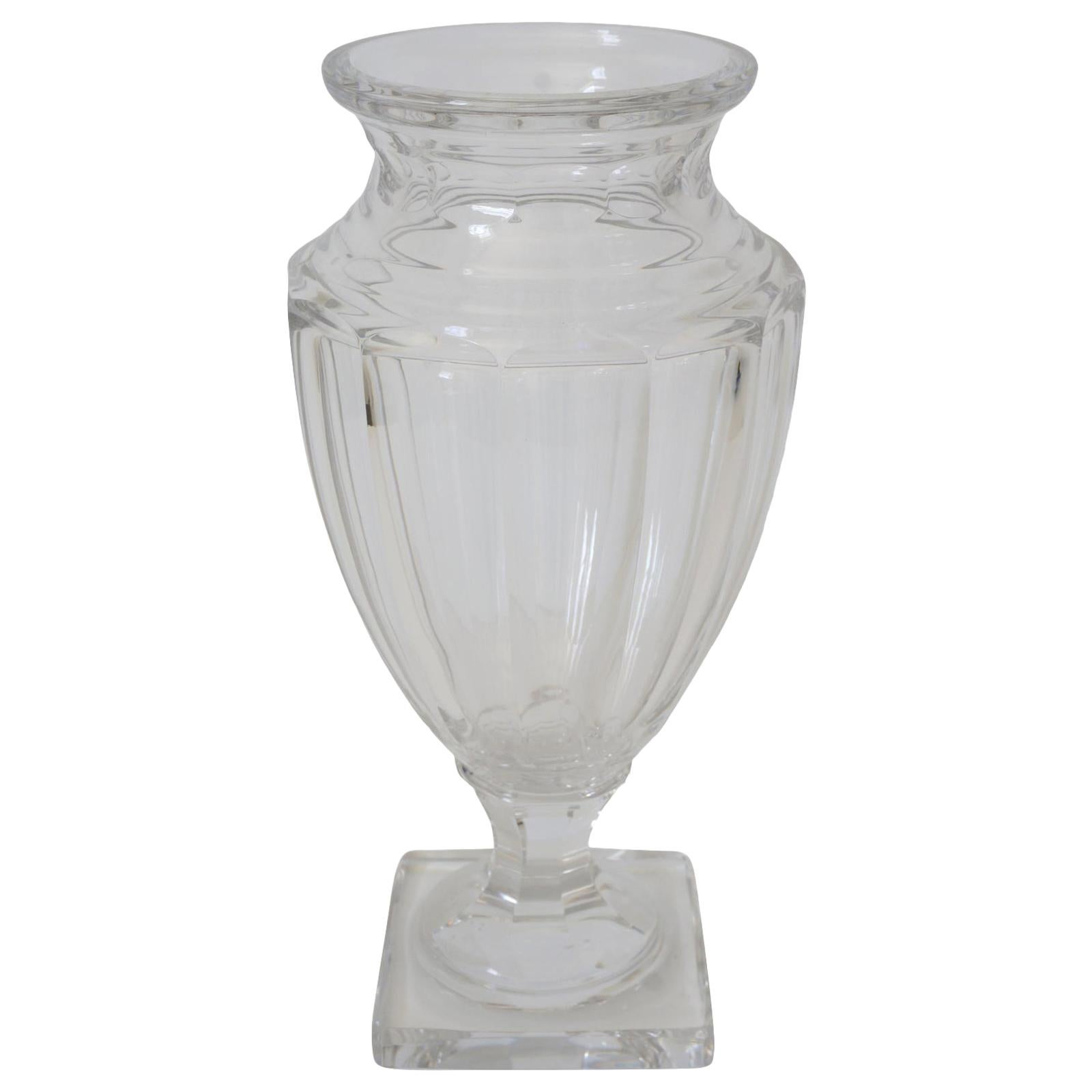 Crystal Vase in the Style of Baccarat