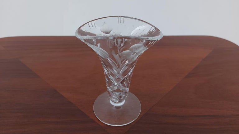 Other Crystal Vase, Poland, 1960s For Sale