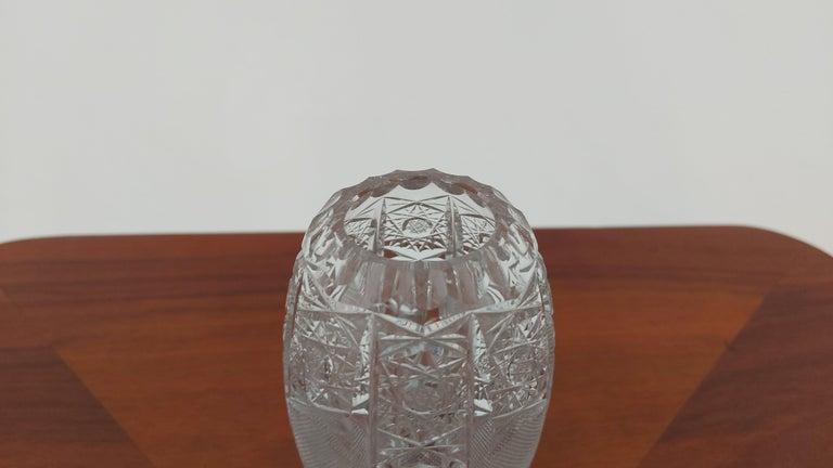 Polish Crystal Vase, Poland, 1960s For Sale