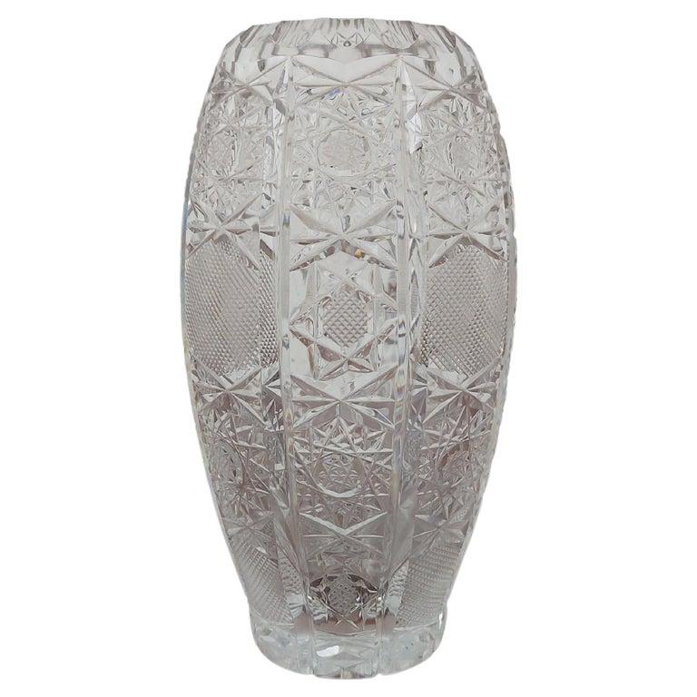 Crystal Vase, Poland, 1960s For Sale