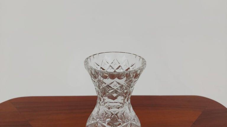 Polish Crystal Vase, Poland, 1970s For Sale