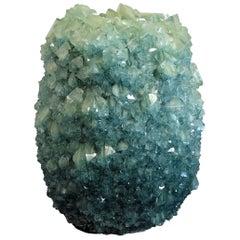 Crystal Vase Teal Large 4 by Isaac Monte
