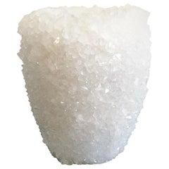 Crystal Vase White 1 Medium by Isaac Monte