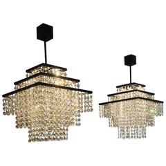 Crystal Waterfall Chandelier with Swarovski Crystals and LED