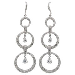 Crystals and Cubic Zirconia Earrings Silver