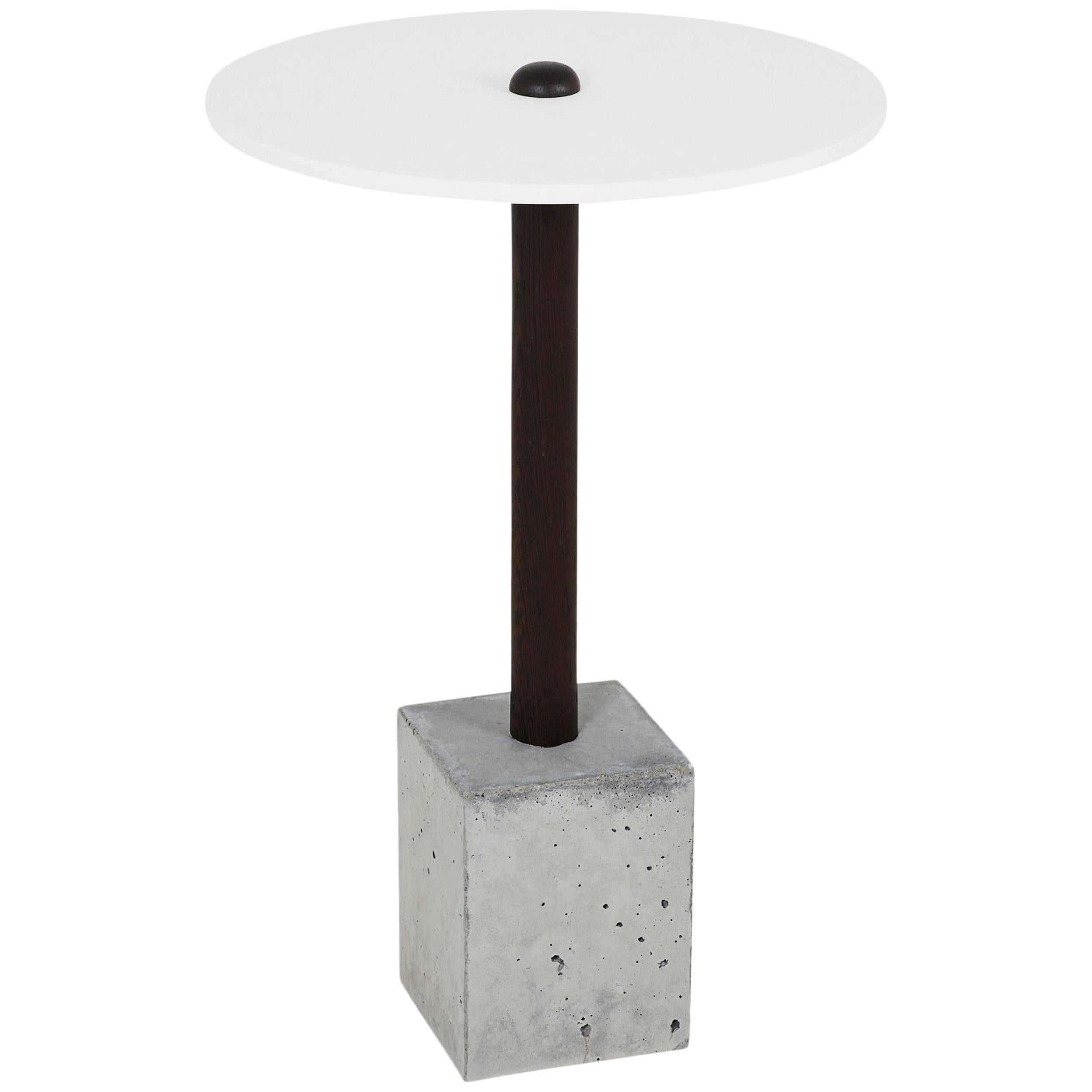 CT-1 Cast Concrete and Corian Side Table