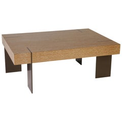 CT-21 Coffee Table with Metal Legs by Antoine Proulx