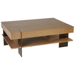 CT-21S Coffee Table with Shelf and Metal Legs by Antoine Proulx