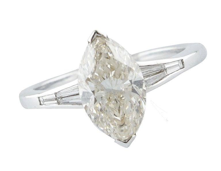 Retro ct 2,20 Diamond White Gold Solitaire Ring For Sale