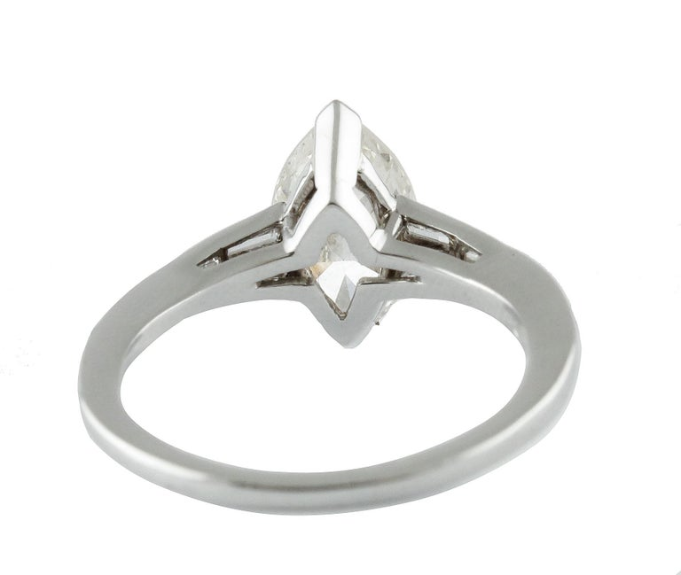 Women's ct 2,20 Diamond White Gold Solitaire Ring For Sale