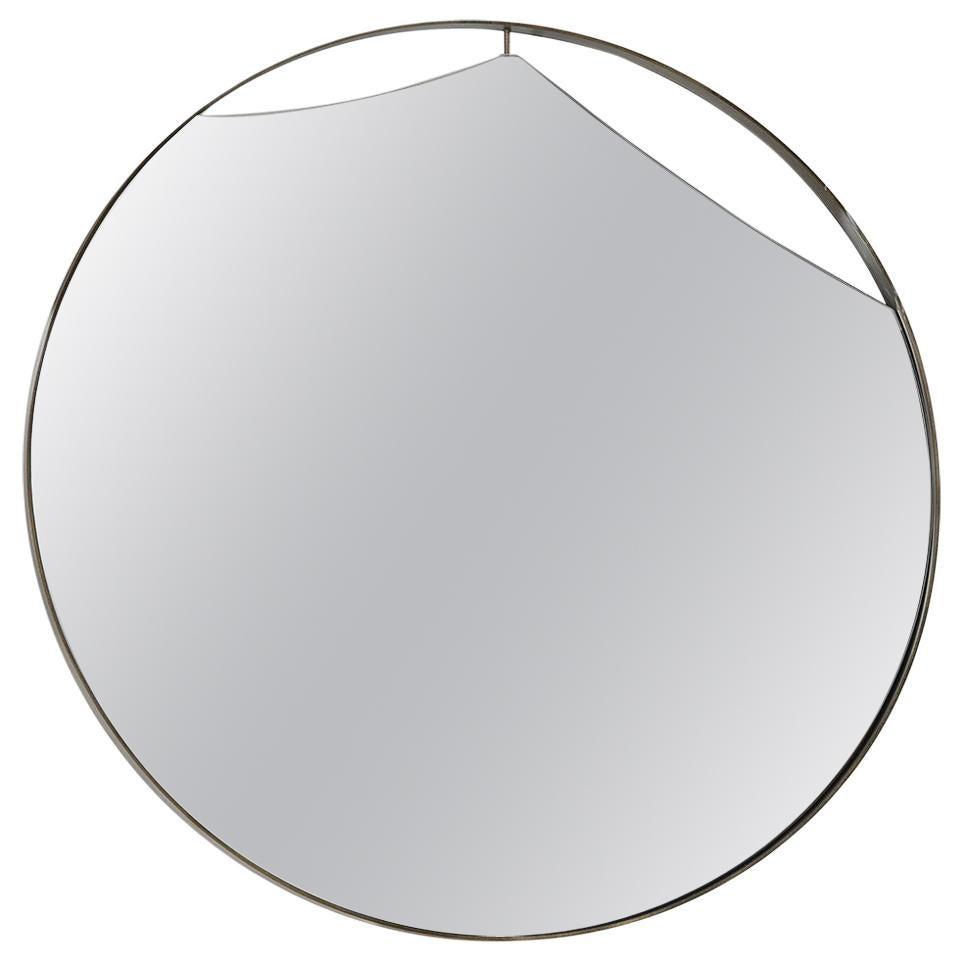 Cuadro Round Mirror with Vintage Brass