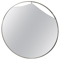 Cuadro Round Mirror with Vintage Brass