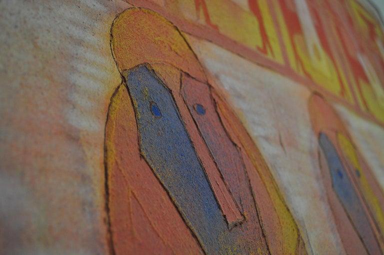 Wood Cuatro Personajes by Rolando Rojas For Sale
