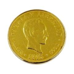 Cuban 20 Veinte Pesos Brooch