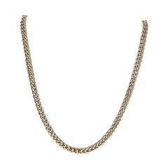 Cuban Curb Chain Necklace, 10 Karat Yellow Gold Box Clasp