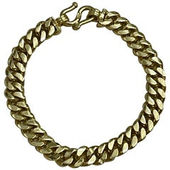 Cuban Link 24 Karat Pure Yellow Gold Bracelet, 37.5 Gm, Unisex