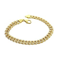 Cuban Link Diamond Gold Bracelet